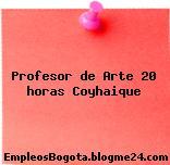 Profesor de Arte 20 horas Coyhaique