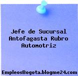 Jefe de Sucursal Antofagasta Rubro Automotriz