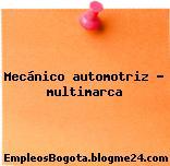 Mecanico Automotriz Multimarca