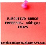 EJECUTIVO BANCA EMPRESAS, código: 14325