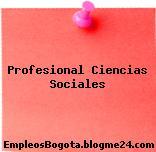 Profesional Ciencias Sociales