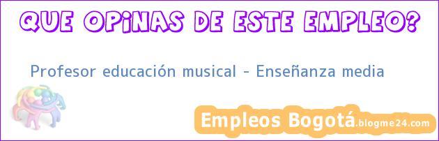 Profesor educación musical – Enseñanza media
