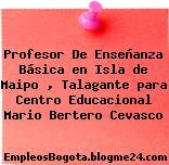 Profesor De Enseñanza Básica en Isla de Maipo , Talagante para Centro Educacional Mario Bertero Cevasco