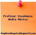 Profesor Enseñanza Media Música