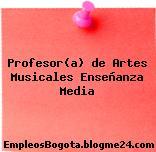 Profesor(a) de Artes Musicales Enseñanza Media