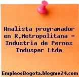 Analista programador en R.Metropolitana – Industria de Pernos Indusper Ltda