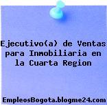 Ejecutivo(a) de Ventas para Inmobiliaria en la Cuarta Region