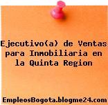 Ejecutivo(a) de Ventas para Inmobiliaria en la Quinta Region