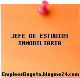 JEFE DE ESTUDIOS INMOBILIARIA