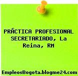 PRÁCTICA PROFESIONAL SECRETARIADO, La Reina, RM