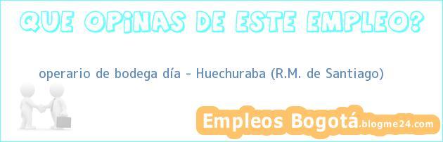 operario de bodega día – Huechuraba (R.M. de Santiago)