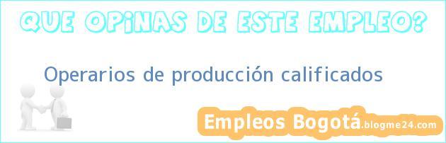Operarios de producción calificados