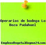 Operarios de bodega Lo Boza Pudahuel