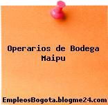 OPERARIOS DE BODEGA – MAIPÚ