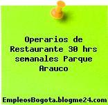 Operarios de Restaurante 30 hrs semanales Parque Arauco
