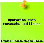 Operarios Para Envasado, Quilicura