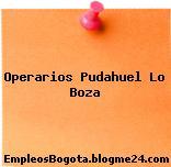 Operarios Pudahuel Lo Boza