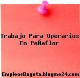 Trabajo Para Operarios En PeÑaflor