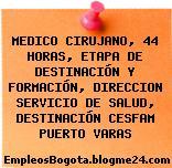 MEDICO CIRUJANO, 44 HORAS, ETAPA DE DESTINACIÓN Y FORMACIÓN, DIRECCION SERVICIO DE SALUD, DESTINACIÓN CESFAM PUERTO VARAS