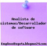 Analista de sistemas/Desarrollador de software