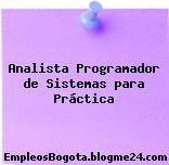 Analista Programador de Sistemas para Práctica