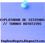 Explotador de Sistemas (Turnos rotativos)