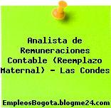 Analista de Remuneraciones Contable (Reemplazo Maternal) – Las Condes