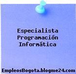 Especialista Programación Informática