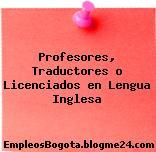 Profesores, Traductores o Licenciados en Lengua Inglesa