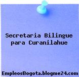Secretaria Bilingue para Curanilahue