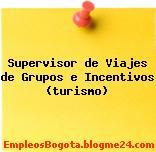 Supervisor de Viajes de Grupos e Incentivos (turismo)