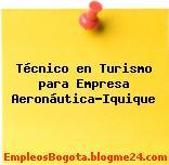 Técnico en Turismo para Empresa Aeronáutica-Iquique