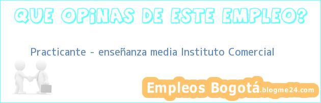 Practicante – enseñanza media Instituto Comercial