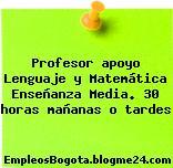 Profesor apoyo Lenguaje y Matemática Enseñanza Media. 30 horas mañanas o tardes