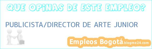PUBLICISTA/DIRECTOR DE ARTE JUNIOR