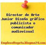Director de Arte Junior Diseño gráfico publicista o comunicador audiovisual