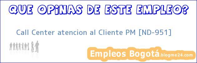 Call Center atencion al Cliente PM [ND-951]