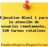 Ejecutivo Nivel 1 para la atención de usuarios remotamente. SIN turnos rotativos