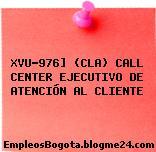 XVU-976] (CLA) CALL CENTER EJECUTIVO DE ATENCIÓN AL CLIENTE