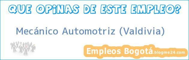 Mecánico automotriz Valdivia
