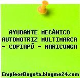 AYUDANTE MECÁNICO AUTOMOTRIZ MULTIMARCA – COPIAPÓ – MARICUNGA
