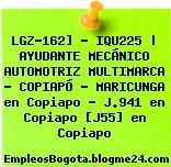 LGZ-162] – IQU225   AYUDANTE MECÁNICO AUTOMOTRIZ MULTIMARCA – COPIAPÓ – MARICUNGA en Copiapo – J.941 en Copiapo [J55] en Copiapo