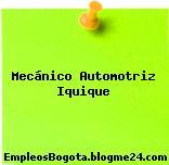 Mecánico Automotriz Iquique