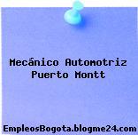 Mecánico Automotriz Puerto Montt