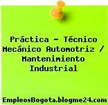 Práctica – Técnico Mecánico Automotriz / Mantenimiento Industrial