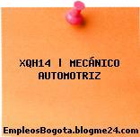 XQH14 | MECÁNICO AUTOMOTRIZ