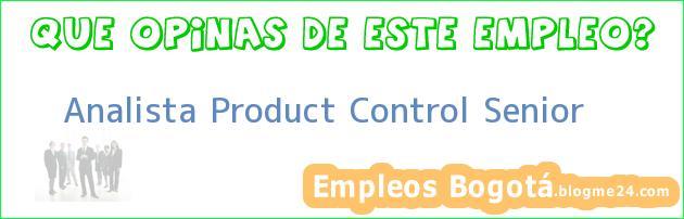 Analista Product Control Senior
