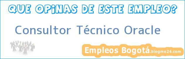 Consultor Técnico Oracle