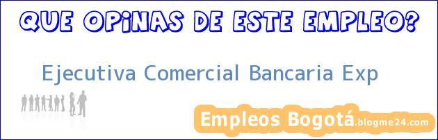 Ejecutiva Comercial Bancaria Exp