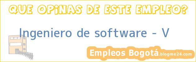 Ingeniero de software – V